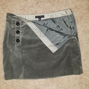 Banana Republic Velvet Mini Skirt Gray S BEAUTIFUL